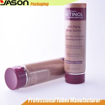 Tubo de plástico cosmético 200ml para cuidados com a pele
