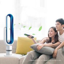 Tecla LED-Press 18 Polegada Andar Sem lâminas Ventilador Ar de refrigeração LSF-018-6A Branco Azul