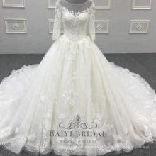 Nova chegada mulheres bonitas vestido de noiva vestido de baile vestido de casamento vestido de noiva de luxo real com tribunal