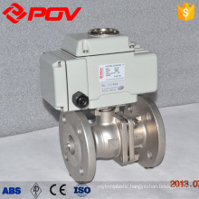 4-20mA actuator 2 way flanged 3 inch stainless steel ball valve