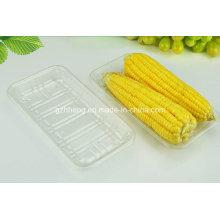 Plato de plástico de fábrica de China sin tapa para fruta (bandeja de PET)