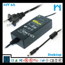 Источники питания привели адаптер переменного тока AC / DC постоянного тока 12V 5A UL CE GS SAA 60W