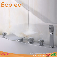 5-Hole Bath Faucet with Plastic Handle Shower