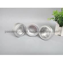 Frasco de alumínio da vela com a tampa do parafuso da janela (PPC-ATC-045)