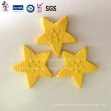 Yellow Star Polymer Clay Cake Decoration