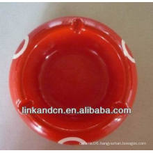 Haonai 2014 red vintage round ceramic ashtray for sale