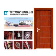 Puerta interior de madera para dormitorio (LTS-107)