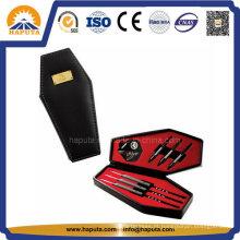 Couro sintético preto caixão Dart casos HS-6008
