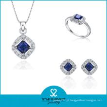 Jóias de prata esterlina jóias por atacado definir pingente e anel (j-0018)