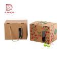 Custom logo popular corrugated paper package fruit gift box
