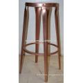 Metal Copper Finish Bar Stool