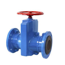 Flanged manual Cast Iron Pipe Clamping Valve/pinch valve