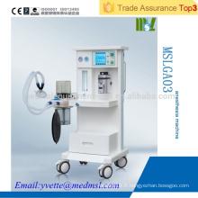 MSLGA03 CE & ISO Approuvé Appareil médical d'anesthésie ventilateur à l'hôpital