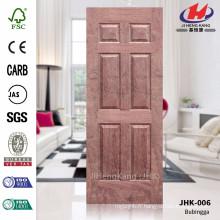 JHK-006 Six Panneaux de haute qualité populaire Australia Design Construction Natural Bubinga Door Sheet