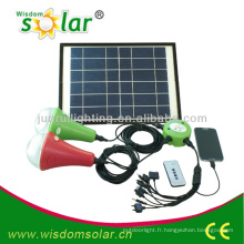 led solaire lumière maison, système d'éclairage à la maison solaire, kit solaire éclairage maison
