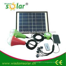 солнечные светодиодные дома света, системы солнечного освещения дома, Комплект солнечного освещения дома