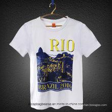O mais novo design 100% algodão camiseta barata