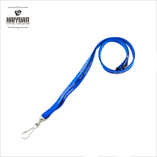 10mm Width Factory Supplied Blue Polyester Lanyards for Promotion