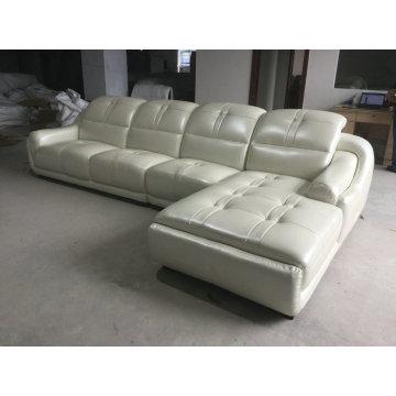 Neue Ankunft L Form Ledersofa, moderne Wohnzimmer-Sofa (A849)
