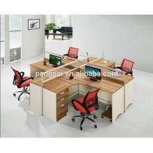 European new design workstation for four seater