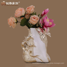 high quality modern age vase with polyresin material for wedding table centerpieces