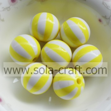 2014 moda bella 16mm 500pcs/sacco giallo resina perline, resina Chunky Gumball, Loose Beads Jewelry rendendo