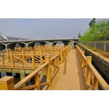 Sistema de barandilla de madera compuesta de la barandilla de WPC impermeable ecofriendly