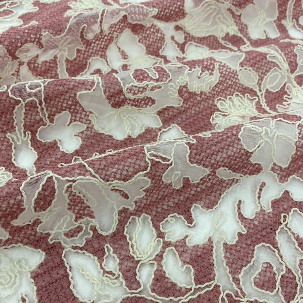 Cord Embroidery Fabric