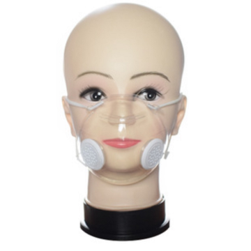 Transparenter Anti-Haze Silicone Deaf-Mute Lip Face Shield