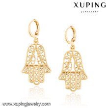 92444 Xuping new designd gold plated hamsa earrings