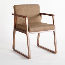 Chaise en bois massif de meubles en bois de conception nordique avec la qualité