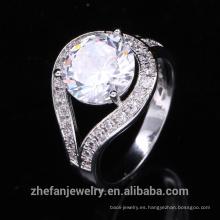 2018 joyería de tendencia señoras anillos anillo de traje de cz en forma redonda grande