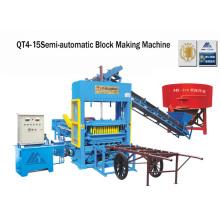 Cimento semi bloco que faz a máquina tijolo que faz a máquina (QT4-25)