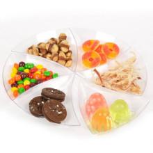 Disco de plástico plato desechable plato triángulo