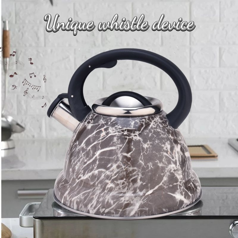 3.2qt Whistling Kettle-Brown