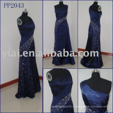 2010 производство сексуальные бисером шелковое вечернее платье PP2043