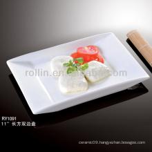nice healthy double edge white rectangular porcelain dishes