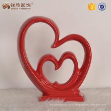Art декоративные ремесло подарок смолаы скульптура двойное сердце для свадьбы сувениры