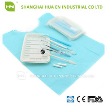 Disposable dental surgical Kit(include mirror, forcep, probe)