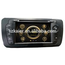 Fabricación de doble zona central multimedia del coche wince para asiento VW 2013 con GPS / Bluetooth / Radio / SWC / Virtual 6CD / 3G / ATV / iPod