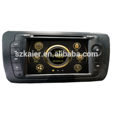 Fabrication zone double wince voiture multimédia central pour VW 2013 Seat avec GPS / Bluetooth / Radio / SWC / Virtual 6CD / 3G / ATV / iPod