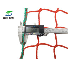 Red HDPE Knotless Fall Arrest Net, Construction Safety Catch Net, Anti-Falling Netting, Container Cargo/Sport/Golf Nets Made in China