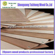 Chapa de madeira compensada folheada de álamo de alta qualidade