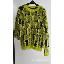 Ladies Winter 100% Acrylic Fancy Yarn Knit Pullover Sweater