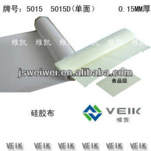 China VEIK silicon rubber coated kavlar fabric, welding blanket, silicon fabric heat resistance 0.15mm-2.00mm thickness