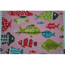 Цветок шаблон дизайна печатных ткань для диван/стул/Подушка покрытие