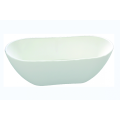 Simple White Center Drain freistehende Acryl-Badewanne