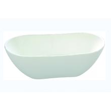 Simple White Center Drain Acrylic Freestanding Bathtub