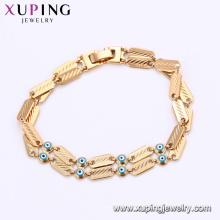 75188 Xuping personnalisé motif magnétique mauvais oeil chaînes de charme bracelet fournissant un échantillon gratuit