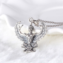Thai black silver hawk male pendant necklace